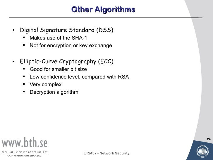 elliptic curve cryptography algorithm with example ppt