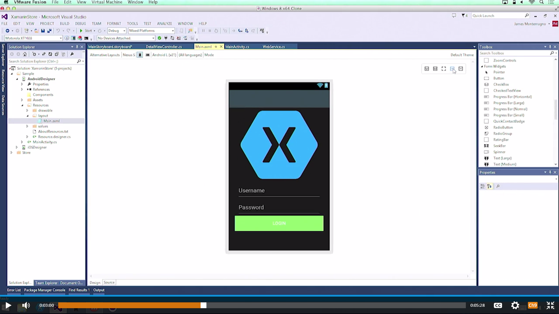 asynctask example in xamarin android