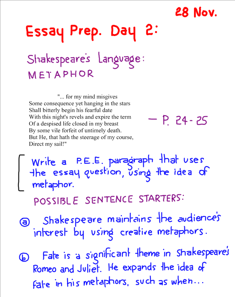 example of analogy in romeo and juliet