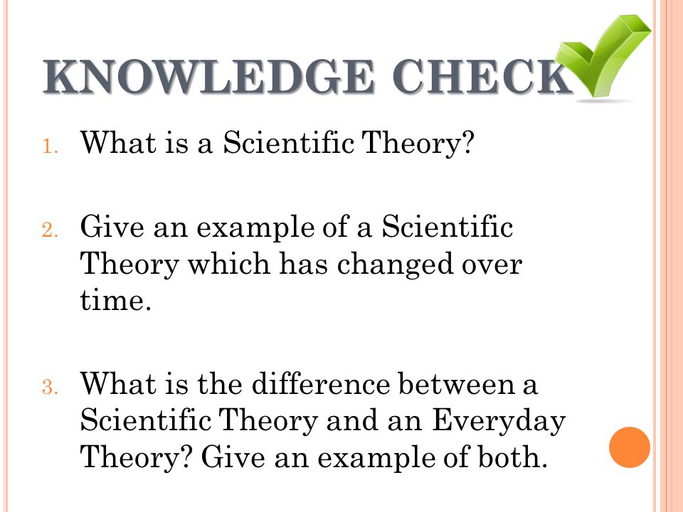 what is an example of a scientific theory