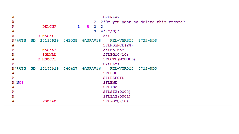 db2 iseries stored proc with temporary trable example