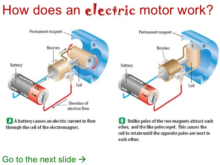example of electrical to mechanical energy
