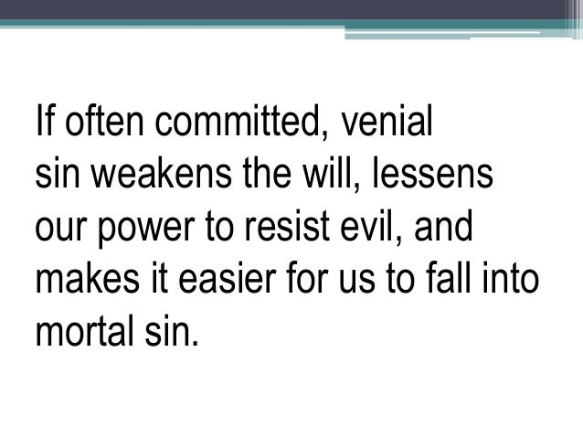 example of venial sin in the bible