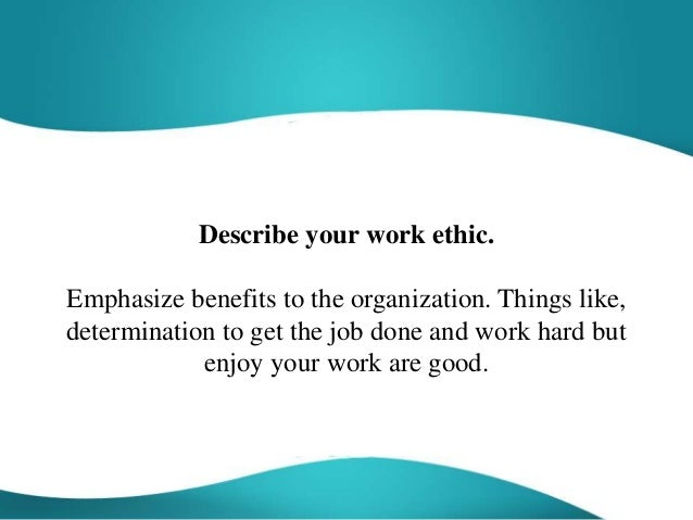 describe your work ethic example