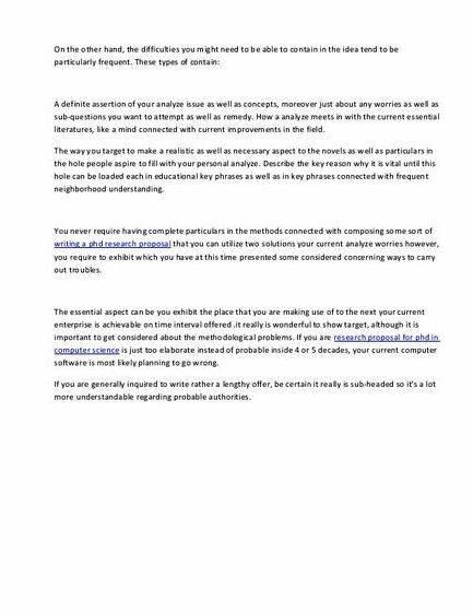 master thesis proposal example computer science