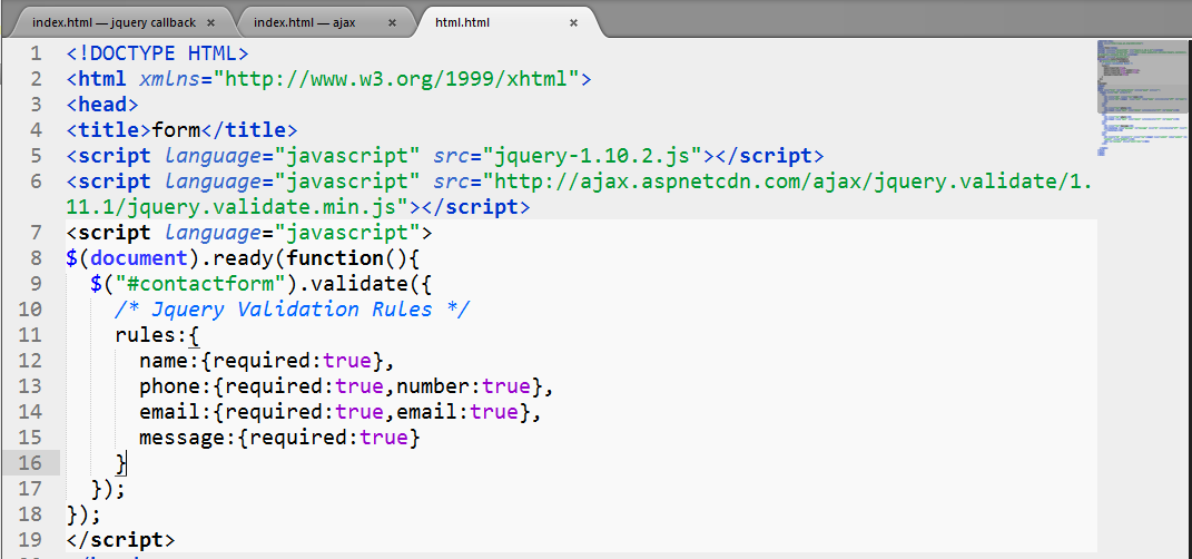 jquery remote validation example php