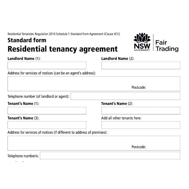 residential tenancy agreement vic example