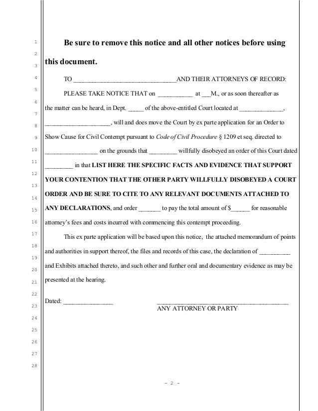 ex parte application example south africa