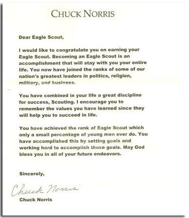 letter of ambition eagle requirement example