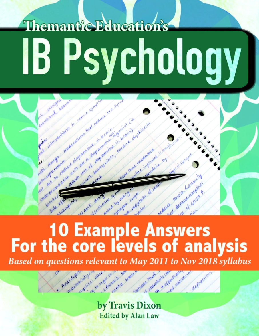 ib psychology paper 1 section b example