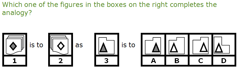 example of non-verbal question on a ccat