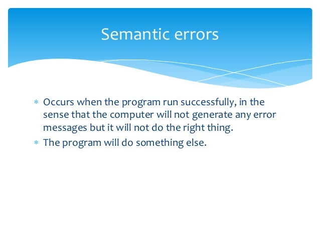 example of a runtime error