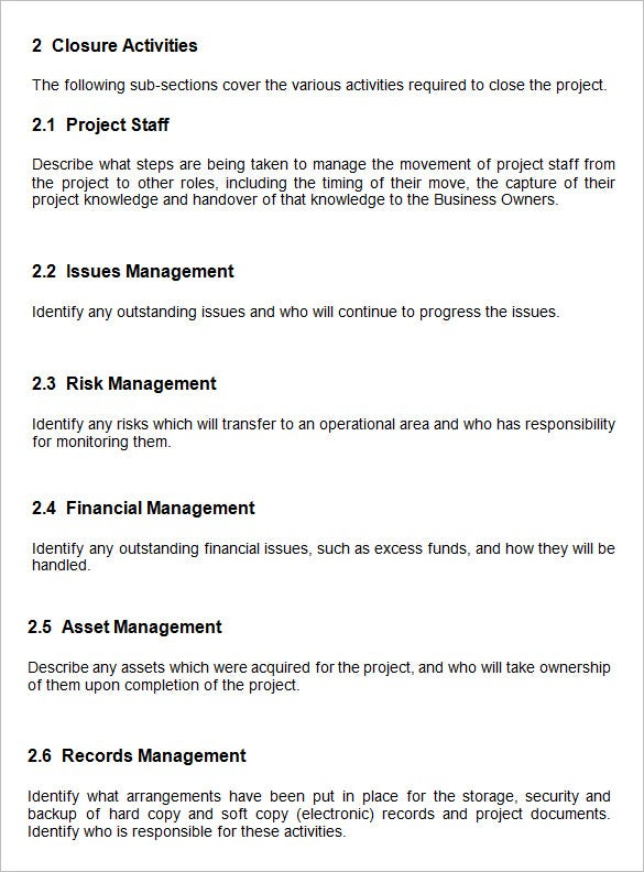 project management for it projects example