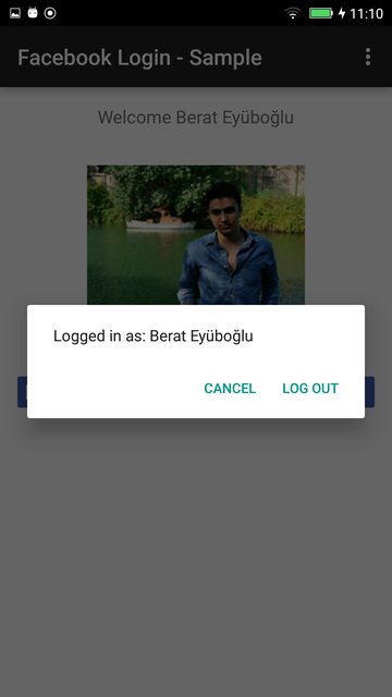 android facebook sdk logout example