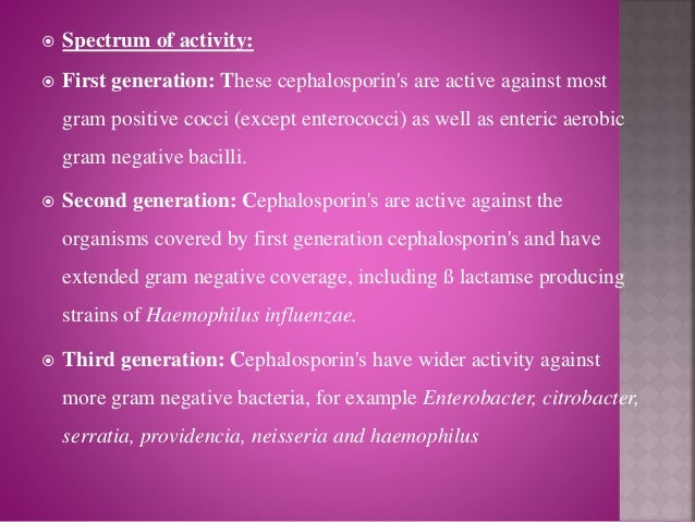 example of 3rd and 4th cephalosporins used in livestock