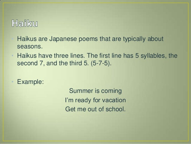 example of poem with 7 syllables