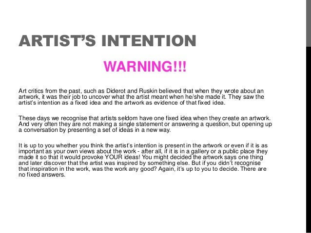 example of statement of intent for art