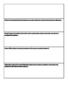 example of the madeline hunter lesson plan template
