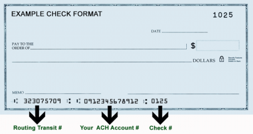 switch from cheque to ach numerical example