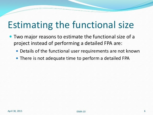 function point analysis estimation example