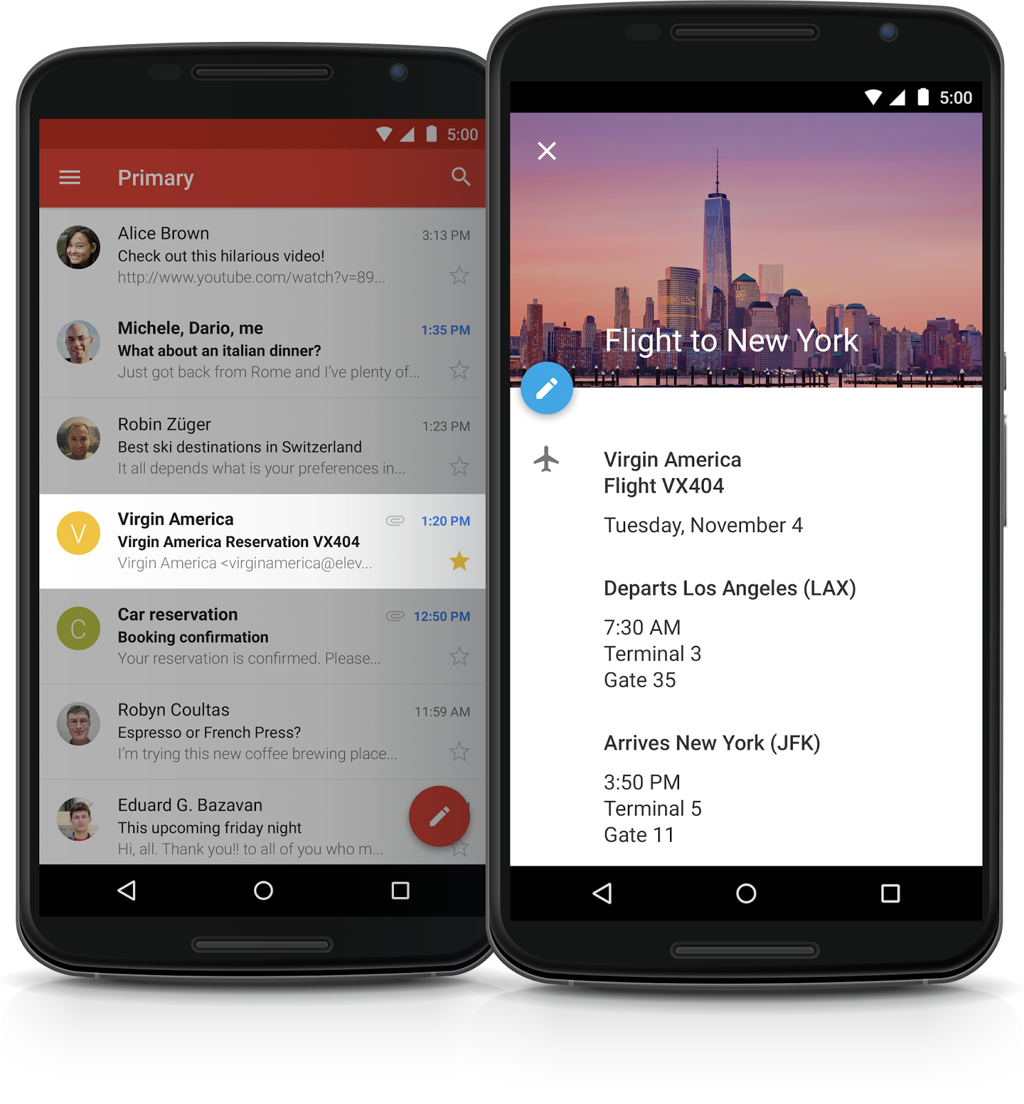 google calendar in android example