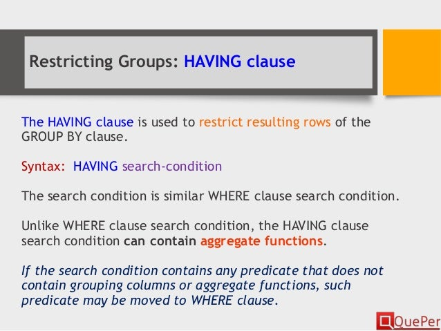 having clause in sql example