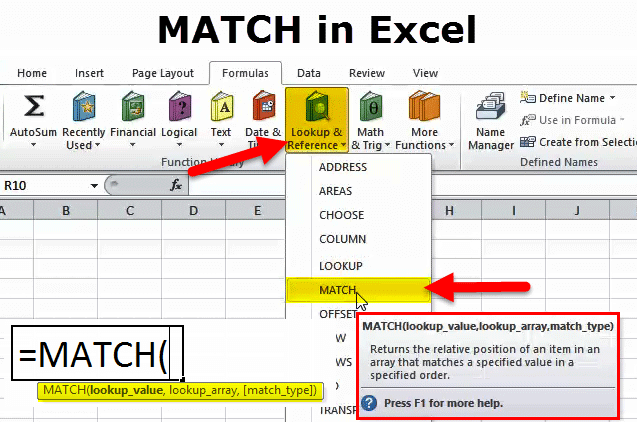 offset match function excel example