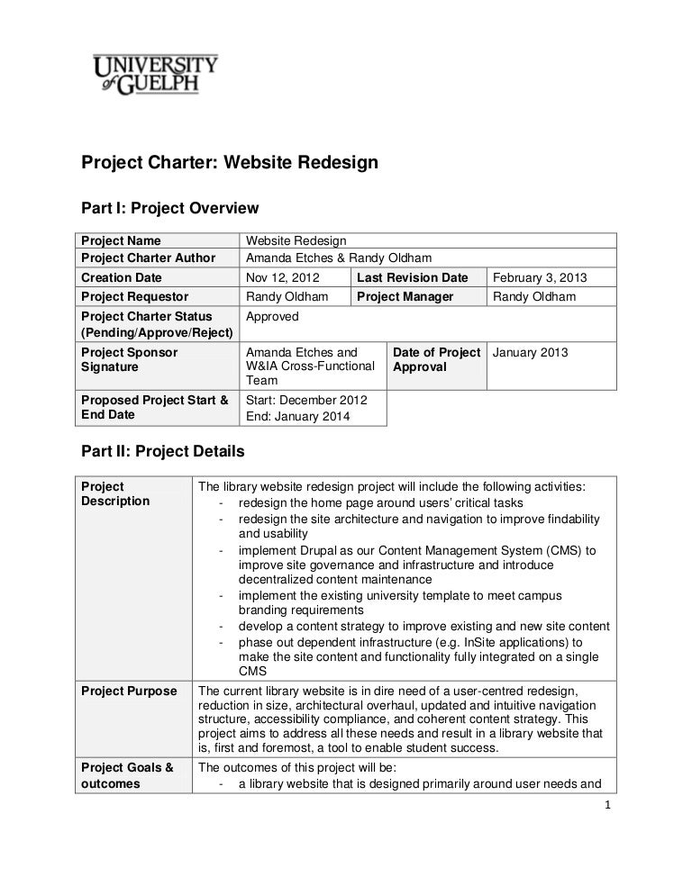 project charter for planning event example