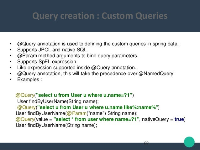 spring data jpa query example