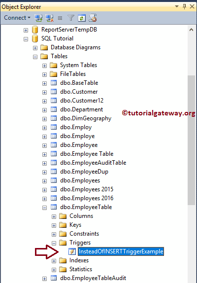 t-sql instead of delete trigger example